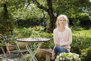 I trädgårdsmästaren Gunilla Welin Brooks trädgård.