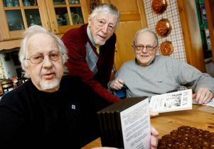 Iwan Jonsson, Nils-Axel Didriksson och Gunno Grinde har räddat handelns historia i Berg till eftervärlden.