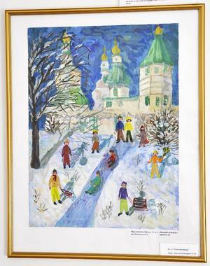 Anastasia Portnyagina, 11 år, deltar i utställningen med sin favoritmålning