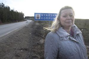 Lena Dafgård, partiledare i partiet Sorundanet som vill utreda en delning av Nynäshamns kommun.