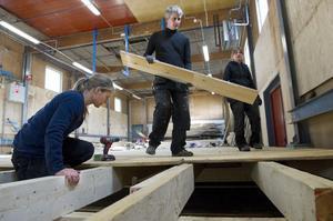 Full fart framåt när nybildade föreningen Kilafors Hundhall bygger inomhushall.