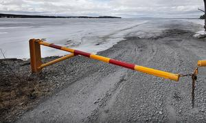 Arkivbild från förra året. Isvägen mellan Isön och Norderön.