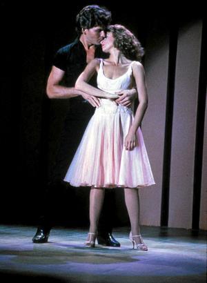 Patrick Swayze och Jennifer Gray som Johnny Castle och Frances