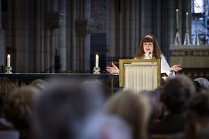 Karin Perers höll tal när Kyrkomötet öppnade i tisdags.