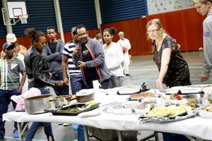 Simon Isaac presenterade det eritreanska köket med den pannkaksliknande injeran.