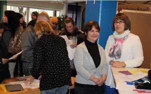 Säter kommunen representerades på rekryteringsträffen av Sunne Östman och Pernilla Söderlund. – Säter behöver 50 sommarvikarier inom omsorgen, säger de.