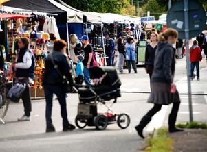 Omkring 15000 besökare kommer under helgen att trivas och trängas bland närmare 100-talet marknadsstånd på Borlänge höstmarknad.