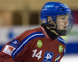 Martin Frid – ung talang (Edsbyn) som får fler möjligheter att lira heta matcher.