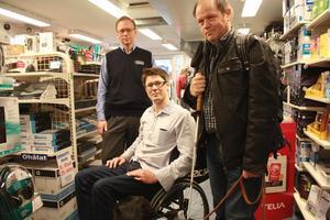 Ska arbeta tillsammans. Thomas Björklund, ägare av Avesta Data, kommer under ett år få hjälp av Jonas Gustafsson och Janne Smågs att göra sin butik till en av Dalarnas mest tillgängliga.