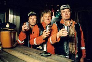 Jacob Nordenson, Tomas Norström och Lennart Jähkel som bröderna Marklund i filmen PISTVAKTStillbildsfotograf: Joakim Strömholm