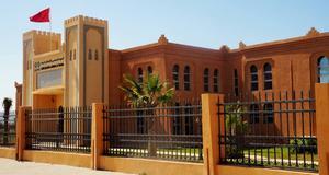 Skolan i södra Marocko där Anneli Zaki undervisar ideellt.