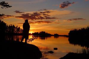 Här är en bild som är tagen vid fritidshuset vid sjön Näkten.