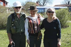 Yngve Kjellgren, Eva Tägström och Gudrun Niss. Yngve vandrar för femte gången
