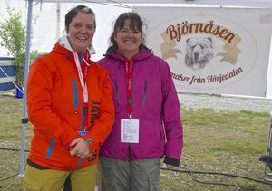 Hanna Dahl och Helen Asp trivdes på mässan.