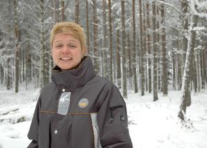 Prospekteringschefen Linda Olsson på Kopparberg Mineral gläds åt att vara den första kvinnan i Sverige som fått en europeisk ackreditering för geologer.
