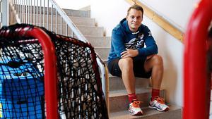 Foto: Mats Andersson. Sebastian Wahlgren berättar för LT-Sporten hur Nykvarn rustar sig för framtiden.