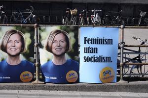 Feminism utan socialism, ett koncept som inte riktigt gick hem hos väljarna. Kanske hade det fungerat bättre med Arnholm som partiledare.