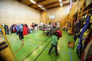 Bytardag på Bruksvallarnas skola, en tradition på hösten.