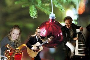 Jenny Melin, Sigge Hill och Jerry Carlsson är några av de Hudikartister som underhåller i julshowerna.Montage: Stefan Westerlund