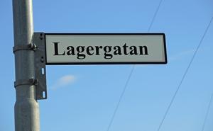Lagergatan blir sannolikt Vagngatan. Utländska förare kan lätt förväxla Lagergatan med Lägergatan.