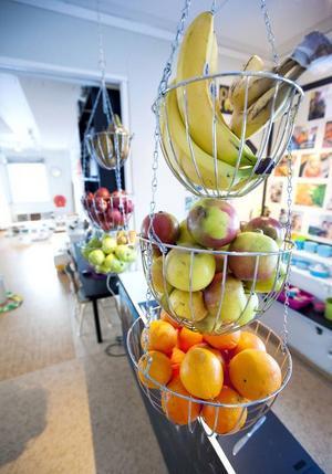 Frukt äts det 2–3 gånger om dagen.