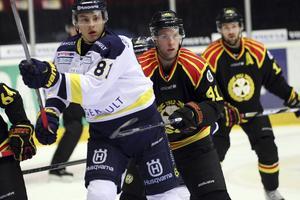 Filip Ahl, till vänster, lånas ut till Sundsvall Hockey.