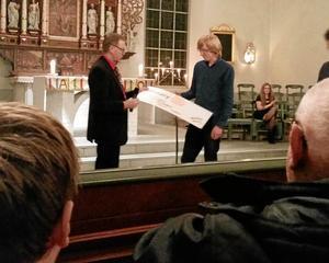 olika projekt. Hallsbergs Rotary delar årligen ut ett kulturstipendium. I julas belönades musikeleven Per Eriksson.