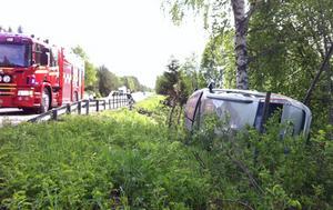 En singelolycka inträffade under torsdagsförmiddagen utanför Glössbo.