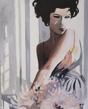 """""""Dagsljus"""". Angelica Palovaara målar porträtt med filmbilden som förebild."""