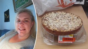 Marit Stub Nybelius tycker det är märkligt att kakan kan se så fräsch ut efter två år.