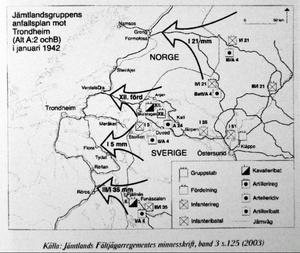 Fältjägarna har också redovisat hur den svenska försvarsmakten redan 1942 planerade för ett motanfall om de tyska trupperna skulle gå över gränsen från Norge.Ännu ett skyttevärn, med uppsikt mot trafiken som kommer från Gäddede och norska gränsen. Alanäs var det sista fästet i en serie på fem anläggningar från gränsen och nedåt.