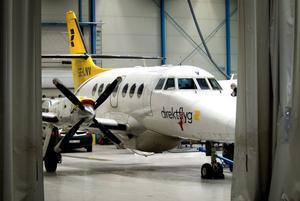 Stockholmsflyget blir kvar på marken. Trafiken mellan Dala Airport och Arlanda är nedlagd.