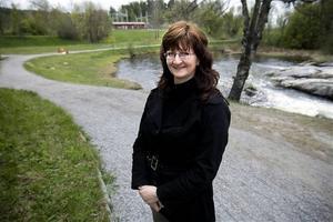 Carina Wallin, från Kyrkdal, har tagit fram ett förslag på hur området vid Kramforsån ska kunna förvandlas till en riktig stadspark.