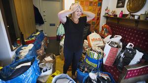När flyktingströmmarna började var viljan genast stor hos västeråsarna att hjälpa till så gott de kunde. Cicilia Sedvall tog initiativ till insamlingen. Bilden är tagen i september 2015.