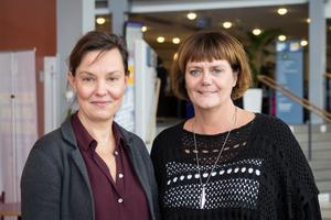 Hannah-Karin Linck (C), till höger, anser att Sjukvårdspartiet går ut med ett falskt påstående som skapar otrygghet i onödan.