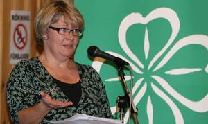 Marianne Larm Svensson föredrog centerdistriktets förslag i regionfrågan. Partiet bejakar regionförstoring, men när det gäller förslaget om att gå samman med Västernorland villkorar partiet en rad saker. Mycket mer fakta krävs innan Centern tar slutgiltigt beslut på sin årsstämma nästa vår.