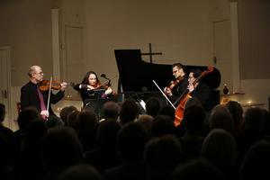 Weberkvartetten inledde lördagens konsert med Beethovens stråkkvartett i ciss-moll.