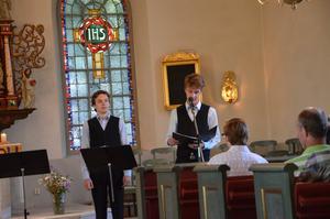 Gruppen Lusciniakvartetten uppträdde under tisdagskvällen i Viby kyrka.