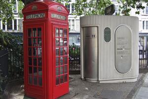 Vissa toaletter i London används till mer än en sak.