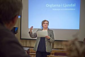 Efter nyår väntas restaureringen av 1700-talsorgeln påbörjas, berättade kyrkorådets ordförande Monica Robin Svensson (FK) vid ett informationsmöte i Ljusdal.