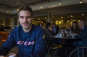 Andreas Westh efter sista träningen i Uppsala.