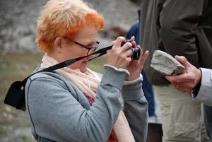 Maria Björkroth, Dalarnas Museum, talade vid paneldebatten i Tällberg, Dalarnas Museum som också är intressent i projektet.