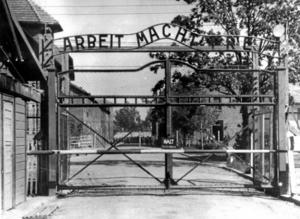 Misslyckad deportering. Nazisterna misslyckades med deporteringen av judar i Albanien. De skyddades av den albanska befolkningen. På bilden: Utrotningslägret Auschwitz. Arkivfoto: TT-AP