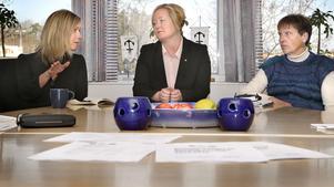 Nyvalda kommunalråden Ingrid Landin (MP), Ulrika Falk (S) och Berit Jansson (C) målar upp en ny kommunapparat med flera förändringar.