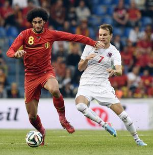 Marouane Fellaini, Manchester United. Belgien–Luxemburg, träningsmatch 26 maj 2014, 5–1.         Gerson om Fellaini: