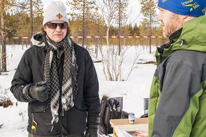 Ulf Gustafsson, lärare från Bäckedal, fanns på plats för att berätta om folkhögskolan och vad man kan studera där.