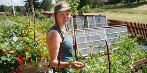 Ingrid Hellberg gick ut sin trädgårdsmästarutbildning i år och fick genast jobb på Hälsingegården i Långhed. Det tack vare att ett möte med projektledaren Nina Östman på trädgårdsmässan i Stockholm.