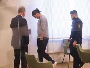 Mohammad Rajabi i rätten under måndagen.
