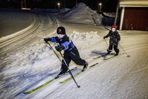 Arvid Tengström, 7 år och Aron Tengström, 5 år från Kaxås