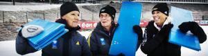 Ulla Nilsson, Inger Eriksson och Gerd Halvarsson är tre av alla funktionärer som ideellt ställer upp under veckan.